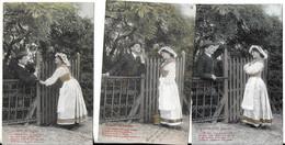 Le Droit De Passage (série Colorisée De 5 Cartes) (genre Bergeret) (2 Scans) - Couples