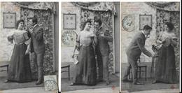 LA GAGEURE (série De 5 Cartes) (genre Bergeret  (éd. CCCC) (2 Scans) - Couples