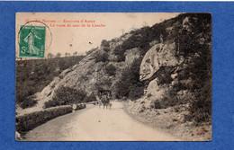 71 - ROUSSILLON En MORVAN : La Route Du Saut De La Canche, Une Calèche En 1913 - Autun