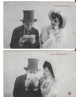 LECTURE PROFANE (série De 2 Cartes) (genre Bergeret) - Couples