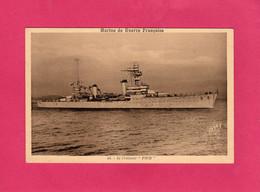 """Militaria, Marine De Guerre Française, Le Croiseur """"FOCH"""", Bateau De Guerre, (Gaby) - Materiale"""