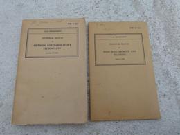 TM Lot 2 Manuel Technique Americain US MESS MANAGEMENT AND TRAINING METHODS FOR LABORATORY TECHNICIANS WW2 Daté 1942 - 1939-45