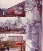 18 Photos De Particulier Istres  Incendie D'un Garage Véhicules Pompiers Attaque Du Feu Et Divers Voir Scan  Réf 4050 - Deportes