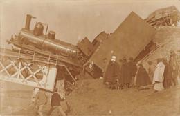"""Algérie - Carte-Photo Accident Train """"Est-Algérien"""" - Loco Vapeur, Pont... - Beau Plan - Unclassified"""