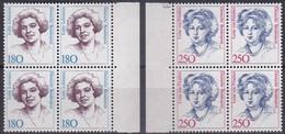BRD, 1989,  Nr. 1427-1428 ** Frauen Der Deutschen Geschichte (IX), 2 Viererblöcke - Neufs