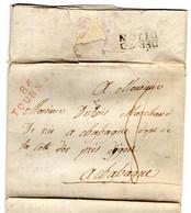 """Pli Avec Correspondance De 86 Tournay (BE) Daté Du 13 Mai 1810 à Destination De Dijon (F) Avec """"déboursé"""" 20 Dijon - 1794-1814 (French Period)"""