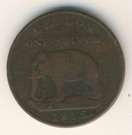 SRI LANKA - CEYLON 1815: 1 Stiver, Elephant, KM 81 - Sri Lanka