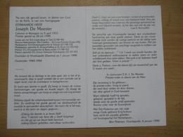 Bidprentje Priester Joseph De Meester Waregem Tielt Beauvoorde Geluwe - Devotion Images