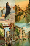 Venezia  Illustratore 8 Cartoline Postale - Venezia