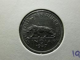 British India 1/4 Rupee 1947 - Colonies