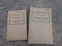 TM Lot 2 Manuel Technique Americain US Materiaux Et Equipement Desinfection Chimique Vehicule WW2 Daté 1942 Exintincteur - 1939-45