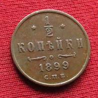 Russia 1/2 Kopeck 1899 Russie  Rusia Kop. Kop Kopeek Wºº - Russia
