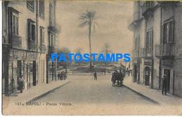 157498 ITALY NAPOLI CAMPANIA SQUARE VITTORIA SPOTTED POSTAL POSTCARD - Sin Clasificación