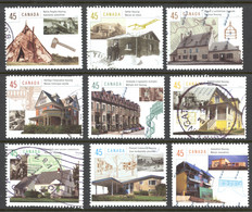 Canada Sc# 1755a-1755i Used Set/9 (f) 1998 45c Housing In Canada - Used Stamps