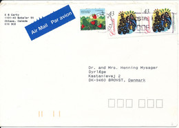 Canada Air Mail Cover Sent To Denmark 14-11-1994 Christmas Stamps - Covers & Documents