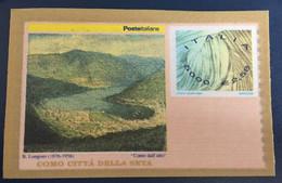 2001 - Italia - Como - Città Della Seta - Il Primo Francobusta In Seta Del Mondo - Euro 2,58 - 2001-10:  Nuovi