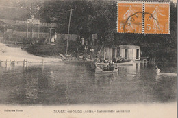 NOGENT SUR SEINE - LA VILLA DES ROSES - ETABLISSEMENT GARLINVILLE - BELLE ANIMATION - PROMENADE EN BARQUE - TOP !!! - Nogent-sur-Seine
