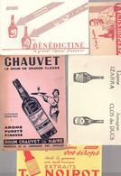 Buvard. Lot N°24 De 10 Buvards Vins, Alcool, Spiritueux, Eaux Ect.. - Liquor & Beer
