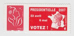 MARIANNE DE LAMOUCHE ET GRANDE VIGNETTE PRESIDENTIELLE 2007 VOTEZ - Adhesive Stamps