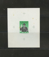 Liberia WINSTON CHURCHILL Proof Sheet  Some Staining 15c In Memoriam MNH Imperf 1966  A04s - Sir Winston Churchill