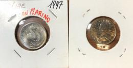 REPUBBLICA DI SAN MARINO  MONETAZIONE MODERNA  50 LIRE 1997 SCULTURA - San Marino