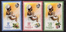 Gambia 1976 Christmas Set Of 3, MNH, SG 353/5 (BA2) - Gambia (1965-...)