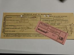 Récépissé J. À. Welter Luxembourg Envoyé à Mich. Ruppert Hobscheid 1937 - Private