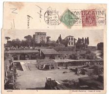 1927 ROMA 106 PALATINO  CASA DI LIVIA  ETICHETTA MONTECATINI AUTUNNO - Altri Monumenti, Edifici