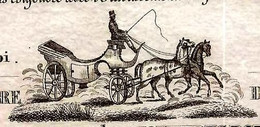 1847 SUPERBE ENTETE PARIS VOITURES BOURGEOISES COCHETS & VALETS DE PIED En Livrée B.E.V.SCANS - Spain