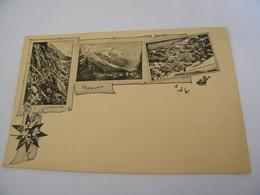 CPA - Chamonix (74) - 3 Vues Anciennes  -  1896  - SUP - (ER 60) - Chamonix-Mont-Blanc