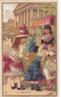 Chromo - Publicité - Chocolat Guerin Boutron - La Madeleine - Vendeuse De Fleurs - Edi J . Minot - Guerin Boutron
