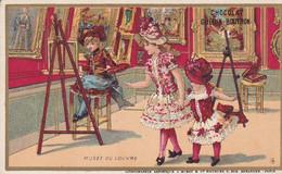 Chromo - Publicité - Chocolat Guerin Boutron - Musee Du Louvre -fillette Artiste Peintre - Edi J . Minot - Guerin Boutron