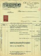 "Österreich BÖHMEN Königinhof Elbe=Dvůr Králové Nad Labem Rechnung +Fiskalmarke 1924 "" Schlein Kattun U.Blaudruckfabrik "" - Austria"