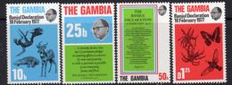 Gambia 1977 Banjul Declaration Set Of 4, MNH, SG 384/7 (BA2) - Gambia (1965-...)