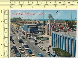 1974 Libya TRIPOLI , Exhibition, Fiera Old Cars, VW Nice Stamps ...    Old Postcard - Libya