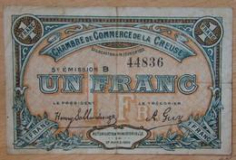 Guéret ( 23 - CREUSE) 50 Centimes Chambre De Commerce 14 Février 1920 5 ème émission Série B - Cámara De Comercio