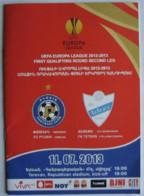 Football Program  UEFA Europa League 2013-14 FC Pyunik Yerevan Armenia - FK Teteks Tetovo North Macedonia - Books