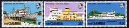 Gambia 1978 Lady Chilel Jawara River Vessel Set Of 3, MNH, SG 404/6 (BA2) - Gambia (1965-...)