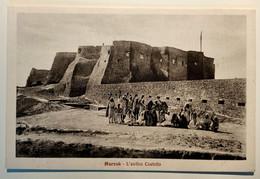 VARIE COLONIE LIBIA MURZUK L'ANTICO CASTELLO Formato Piccolo Non Viaggiata Anni '30 Condizioni Buone - Libya