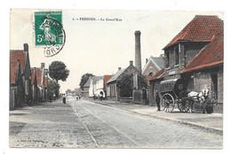 CPA 59 - FRESSIES - LA GRAND'RUE (ATTELAGE) - Altri Comuni