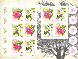 Canada 2021 Booklet Of 10 (P) Maybride, Rosseau Crabapple Blossoms - Full Booklets