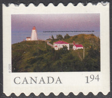 Canada 2020 $1.94 Swallowtail Lighthouse Ex Booklet From Far And Wide - Unused Stamps