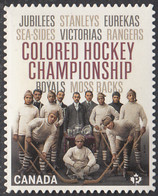 Canada 2020 (P) Colored Hockey Championships Ex Booklet - Unused Stamps