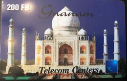 BELGIQUE - Prepaid  - Guanam - Telecom Centers - 200 FB - GSM-Kaarten, Herlaadbaar & Voorafbetaald