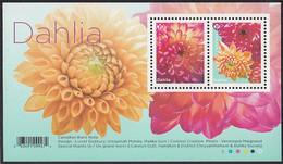 Canada 2020 (P) Dahlias Souvenir Sheet Of 2 - Unused Stamps