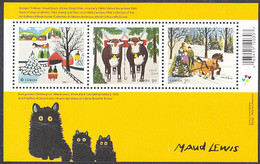 Canada 2020 Maud Lewis Paintings Souvenir Sheet Of 3 - Unused Stamps