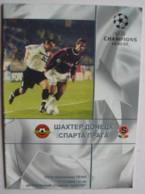 Football Program  UEFA Champions League 2000-01 Shakhtar Donetsk Ukraine - AC Sparta Praha Czech Republic - Books