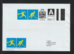 Great Britain Cover 2012 London Olympic Games - SmartStamp With Hockey Posted 2010 To Germany (G129-58) - Summer 2012: London