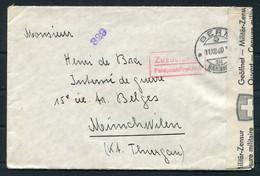 1940 Switzerland Bern Feldpostdirektion Internment Internee POW Censor Cover - Germany - Storia Postale