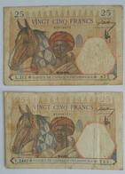 25 FRANCS AFRIQUE OCCIDENTALE  1936 ET 1942 - Unclassified